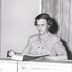 Librarian Louise Amory Tilney